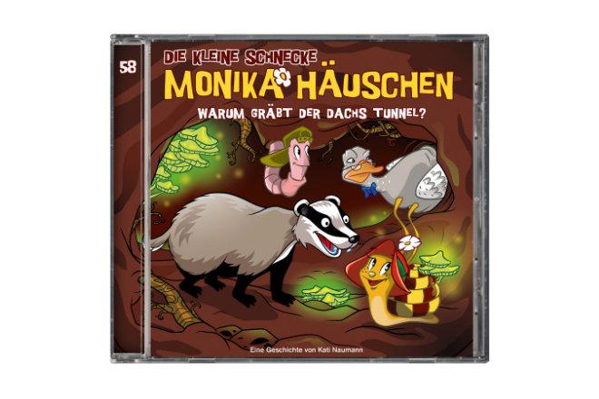 """Die 58. Folge der Hörspielserie """"Die kleine Schnecke Monika Häuschen - Warum gräbt der Dachs Tunnel?"""" ist ab 06.11.2020 erhältlich."""