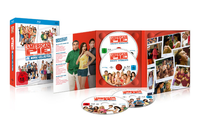 "Das Blu-ray-Set ""American Pie 4 Movie Collection"" ist ab 21.08.2020 erhältlich"