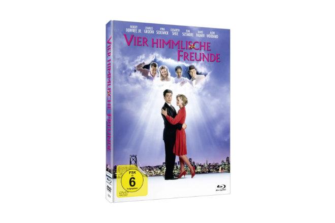 """Das limitierte und hochwertige Mediabook """"Vier himmlische Freunde"""", erhältlich ab 02.10.2020, enthält die DVD und Blu-ray sowie ein exklusives 20-Seitiges Booklet von dem renommierten Autor Christoph N. Kellerbach."""