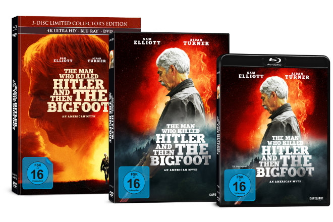 """The Man Who Killed Hitler and Then The Bigfoot"" erscheint am auf DVD und Blu-ray 14.06.2019."