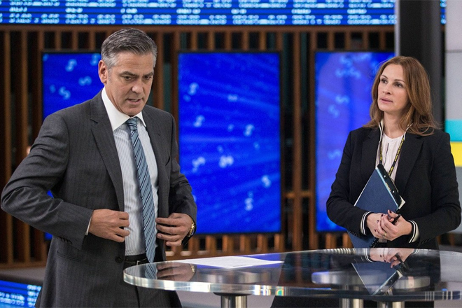 "Im TV-Studio: George Clooney und Julia Roberts in Jodie Fosters Thriller ""Money Monster"""