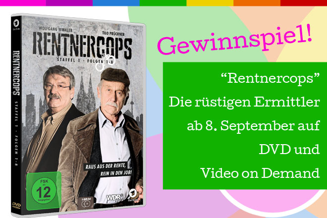 """Rentnercops - Staffel 1"" - Die rüstigen Ermittler gibt es ab 8. September 2015 auf DVD und Video on Demand."
