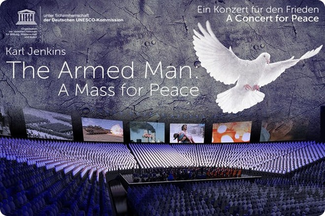 "Das Konzert  ""The Armed Man - A Mass for Peace"" wird am 02.11.2018 in Berlin aufgeführt."