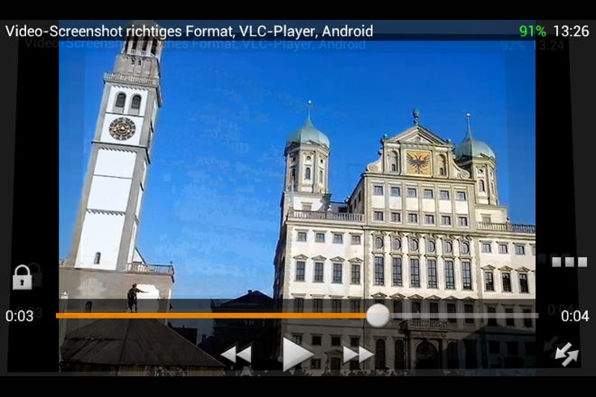 Video-Screenshoot richtiges Format, VLC-Player, Android