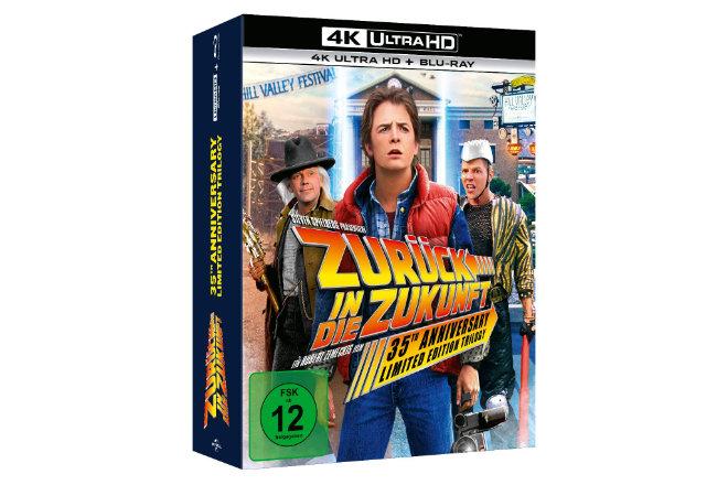 """Die """"Zurück in die Zukunft""""-Trilogie ist ab 22.10.2020 als streng limitierte 4K Ultra HD Steelbook Collection erhältlich."""